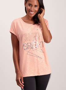 Peach 'Shine Bright' T-Shirt