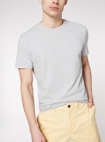Grey Textured Crew T-Shirt