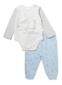 Blue Peter Rabbit Bodysuit And Jogger Set (Newborn -12 months)