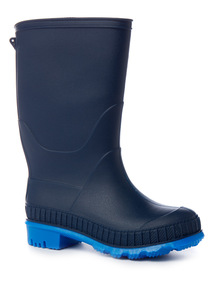 Blue Reflective Wellies