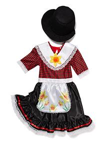 Girls Multicoloured Welsh Girl Costume (2 - 10 years)