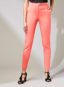 Premium Coral Tapered Buckle Trousers
