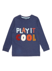 Navy Play It Cool Boucle Tee (9 months-6 years)