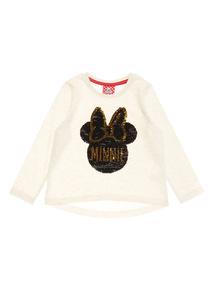 Cream Disney Minnie Sequin Top (1-6 years)