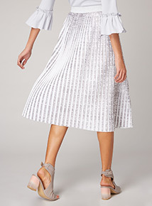 Premium Two Tone Pleated Skirt