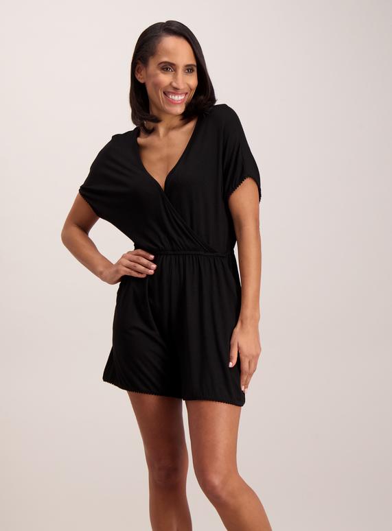 954ad0e5168 Womens Online Exclusive Black Wrap Playsuit