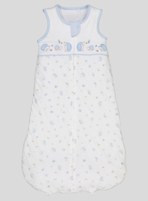 White & Blue Hedgehog Print Sleep Bag 2.5 Tog (newborn-36 months)