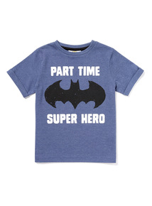Blue Batman 'Part Time Superhero' Slogan T-Shirt (9 months-6 years)