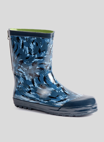 Navy Camo Zip Back Wellies (10 infant - 6 child)