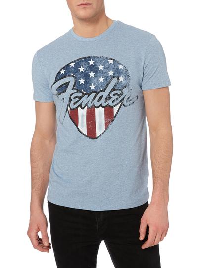 Mens Light Blue Fender T-shirt