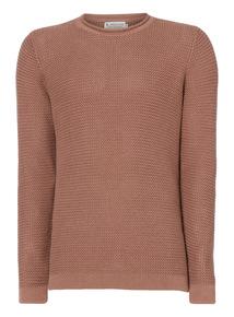 Pink Textured Knit Jumper