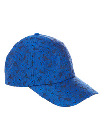 Blue Floral Broderie Anglaise Cap