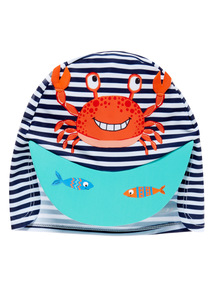 Multicoloured Crab Keppie Hat (1 - 6 years)