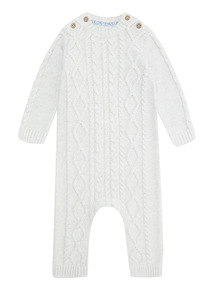 Grey Cable Knitted Romper (0-12 months)