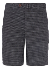 Black Gingham Chino Shorts