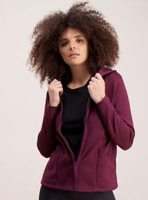 Purple Zip Through Hoodie