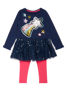 Navy Dress and Legging Set (9 months-6 years)