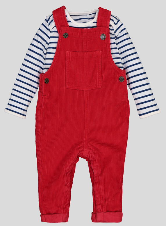 f95ba3fc0 Baby Red Corduroy Dungaree Set (0-24 Months)