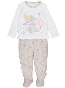 Cream Disney Dumbo Pyjamas (0-12 months)