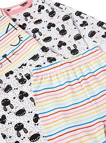 2 Pack Multicoloured Kitty Cat Pyjamas (1-6 years)