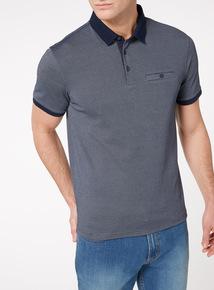 Navy Cross Dye Polo Shirt