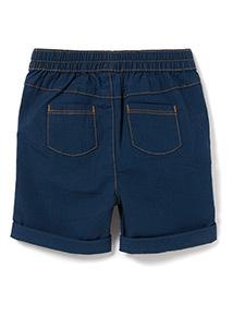 Navy Poplin Shorts (0-24 months)