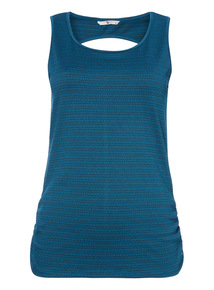 Green Stripe Sport Vest