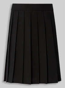 Black Permanent Pleat Skirt