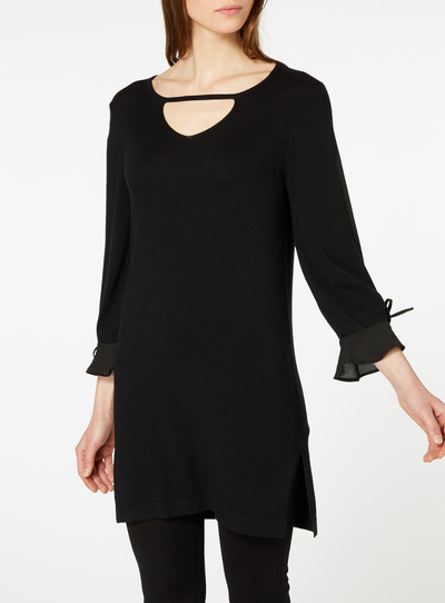 Black Split Sleeve Dress