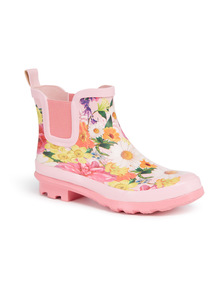 Multicoloured Mothers Day Floral Welly