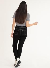 GFW Black Contrast Stitch Jeans