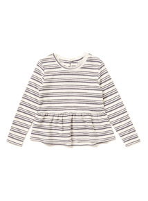 Navy Stripe Snit Top (9 months-6 years)