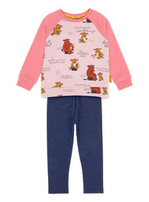 Girls Pink Jersey Gruffalo Set (9 months-5 years)