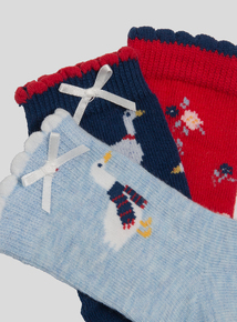 Multicoloured Mother Goose Socks (1 - 24 months)