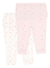Pink Chicken and Goose Leggings 2 Pack (0-12 months)