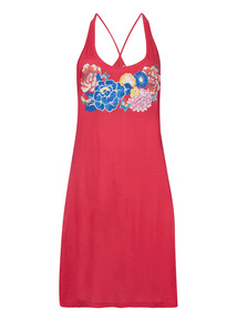 Pink Oriental Embroidered Dress
