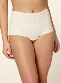 Natural Firm Control Lace Bandeau Shorts