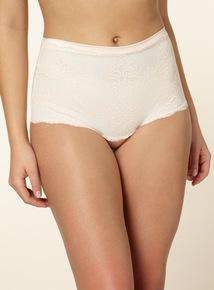 Natural Firm Control Lace Bandeau Shorts