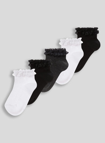 Frilled Trainers Sock 5 Pack