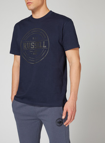 Russell Athletic Navy Printed T-Shirt