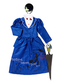 Blue Mary Poppins Costume (3-10 years)