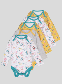 Multicoloured Bodysuits 5 Pack (Newborn - 3 years)