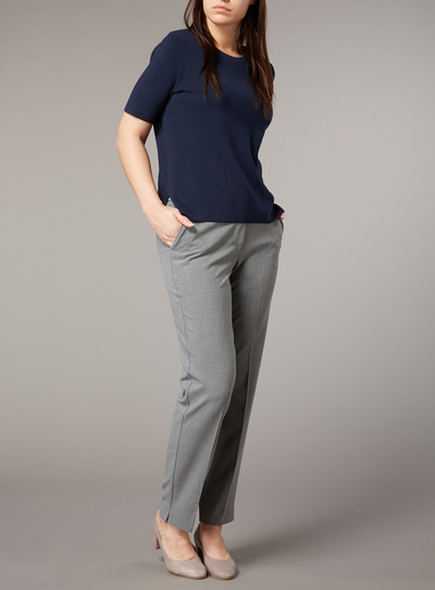 Premium Navy Compact Knit Top