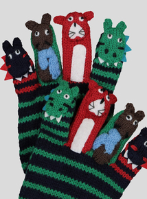 Multicoloured Animal Finger Puppet Gloves (2-10 Years)