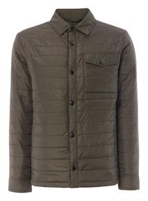 Khaki Padded Shirt Jacket