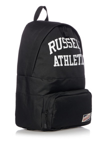 Russell Athletic Black Back Pack White Logo