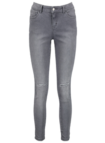 Online Exclusive Grey Ripped Knee Skinny Jeans