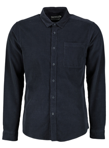 Petrol Blue Regular Fit Cord Shirt