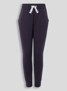 Girls Navy Jogger Bottoms (3-16 years)