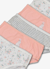 Multicoloured Bunny Print Briefs 10 Pack (18 months - 12 years)